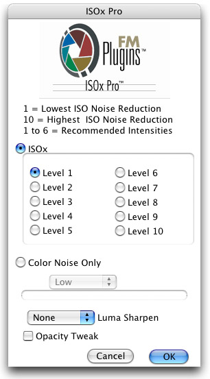 ISOx Pro Interface